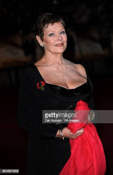 Judi Dench arrives for the World premiere of 'Quantum Of Solace' at the Odeon Leicester Square WC2