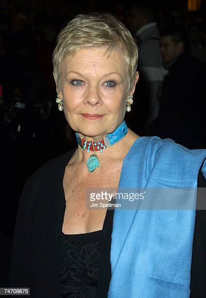 Judi Dench at the Paris Theatre in New York City New York
