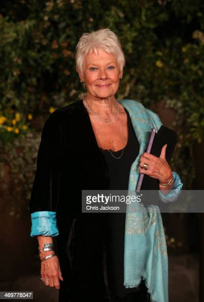 Judi Dench attends an official dinner party after the EE British Academy Film Awards at The Grosvenor House Hotel on February 16 2014 in London...