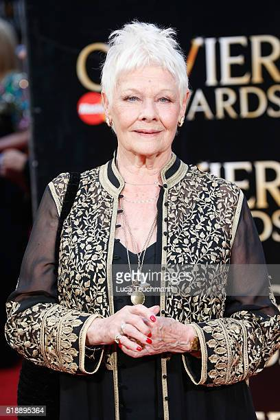Judi Dench attends The Olivier Awards with Mastercard at The Royal Opera House on April 3 2016 in London England