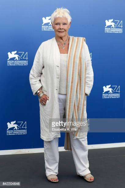 Judi Dench attends the 'Victoria Abdul And JaegerLeCoultre Glory To The Filmaker Award 2017' Cinema photocall during the 74th Venice Film Festival on...
