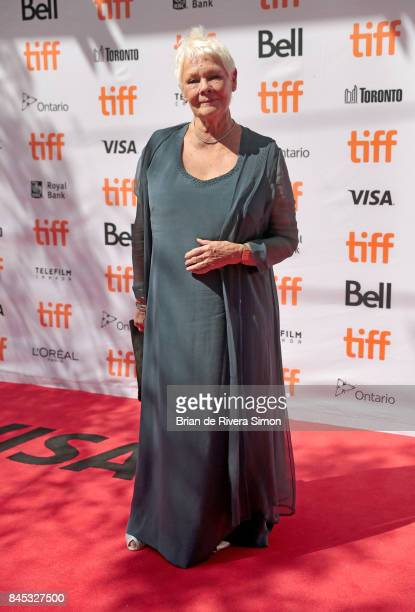 Judi Dench attends the 'Victoria Abdul' premiere during the 2017 Toronto International Film Festival at Princess of Wales Theatre on September 10...