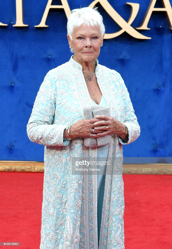 Judi Dench attends the 'Victoria & Abdul' UK premiere held at Odeon Leicester Square on September 5, 2017 in London, England.