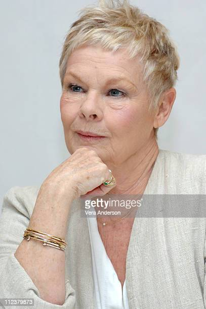 Judi Dench during 'Mrs Henderson Presents' Press Conference with Stephen Frears Bob Hoskins and Judi Dench at Four Seasons in Beverly Hills...