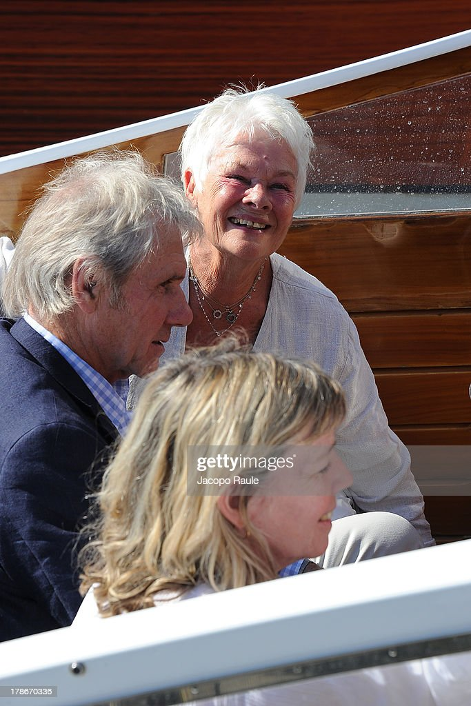<a gi-track='captionPersonalityLinkClicked' href=/galleries/search?phrase=Judi+Dench&family=editorial&specificpeople=159424 ng-click='$event.stopPropagation()'>Judi Dench</a> is seen arriving at Venice Airport during The 70th Venice International Film Festival on August 30, 2013 in Venice, Italy.
