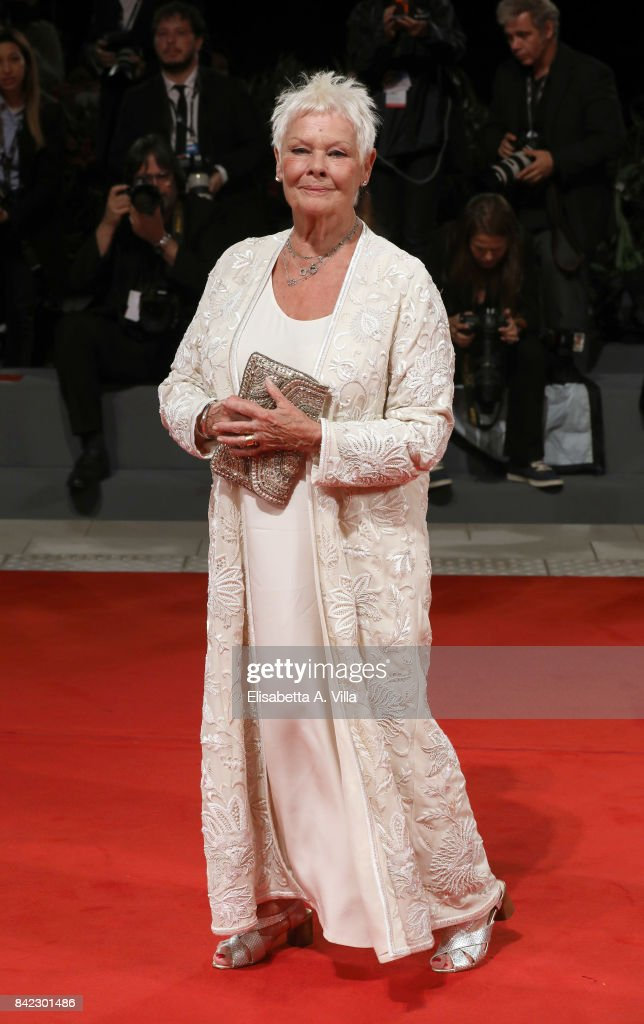 Judi Dench walks the red carpet ahead of the 'Victoria & Abdul (Ella & John)' screening during the 74th Venice Film Festival at Sala Grande on September 3, 2017 in Venice, Italy.