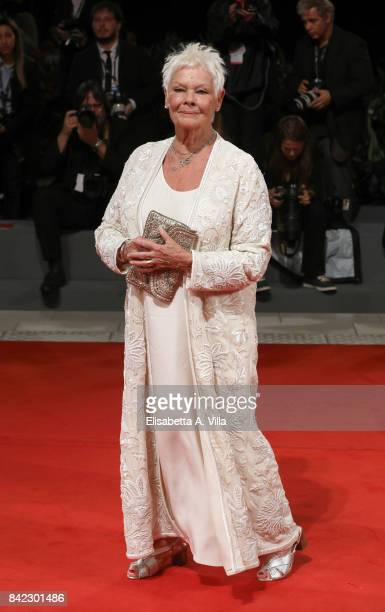 Judi Dench walks the red carpet ahead of the 'Victoria Abdul ' screening during the 74th Venice Film Festival at Sala Grande on September 3 2017 in...