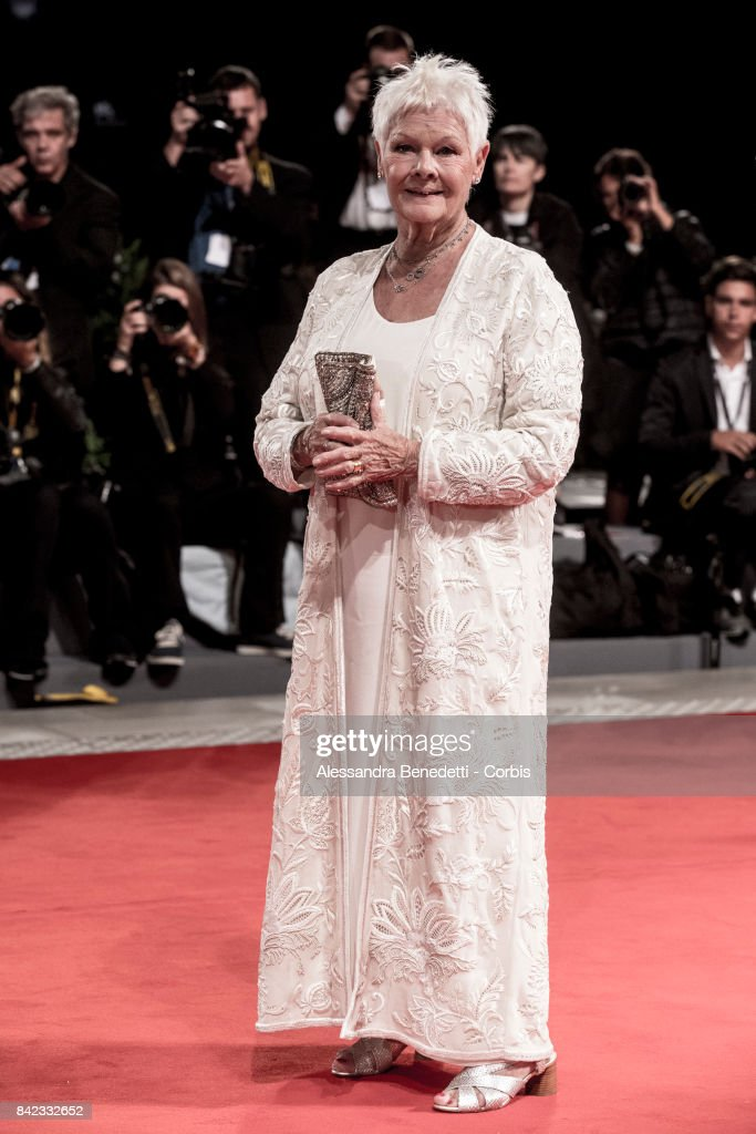 Judi Dench walks the red carpet for 'Victoria & Abdul And Jaeger-LeCoultre Glory To The Filmaker Award 2017' during the 74th Venice Film Festival at Sala Grande on September 3, 2017 in Venice, Italy.