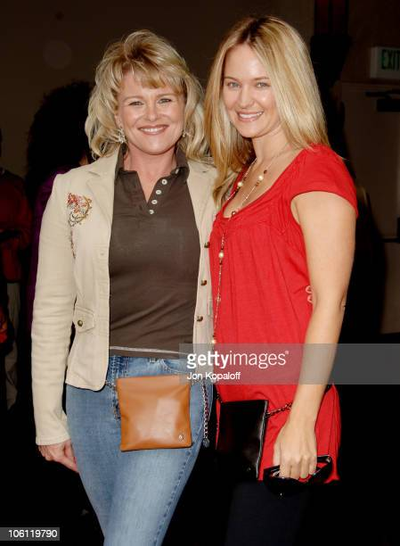 Judi Evans and Sharon Case during Judi Evans Hosts 'A Very Hip Luncheon' November 11 2006 at Colors on Bedford in Beverly Hills California United...