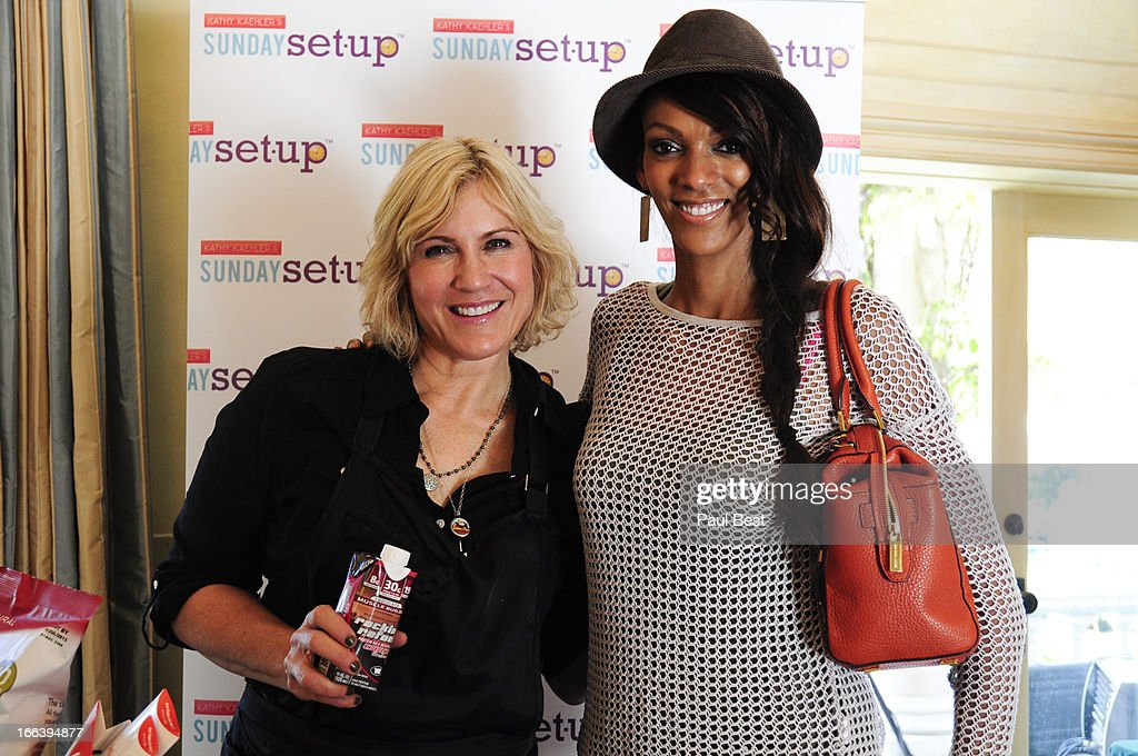 Judi Shekoni and Kathy Kaehler attend 3rd Annual Rockn Rolla Movie Awards Eco Party on April 11, 2013 in Los Angeles, California.
