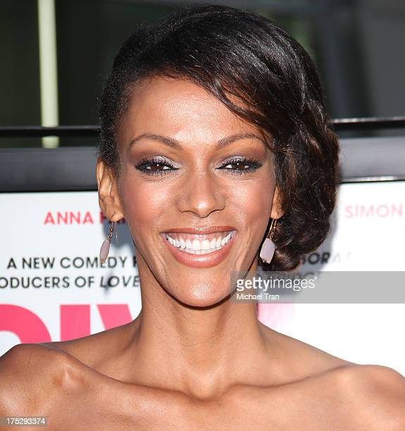 Judi Shekoni arrives at a Los Angeles special screening of 'I Give It A Year' held at ArcLight Hollywood on August 1 2013 in Hollywood California