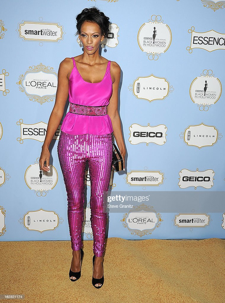 Judi Shekoni arrives at the 6th Annual ESSENCE Black Women In Hollywood Luncheon at Beverly Hills Hotel on February 21, 2013 in Beverly Hills, California.