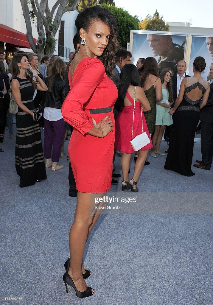 Judi Shekoni arrives at the 'Elysium' - Los Angeles Premiere at Regency Village Theatre on August 7, 2013 in Westwood, California.