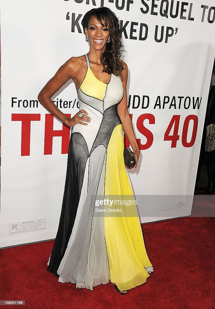 Judi Shekoni arrives at the 'This Is 40' - Los Angeles Premiere at Grauman's Chinese Theatre on December 12, 2012 in Hollywood, California.