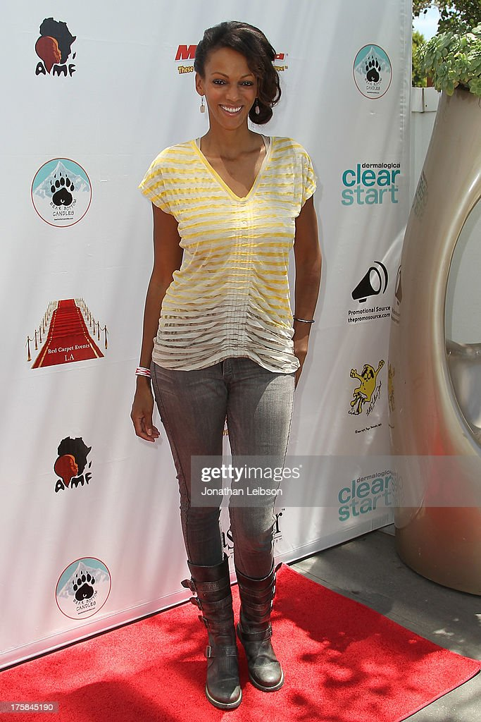 Judi Shekoni attends the Red Carpet Events LA Teen Choice Style Lounge on August 8, 2013 in Beverly Hills, California.