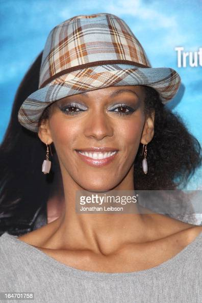 Judi Shekoni attends the 'Rogue' Los Angeles premiere at ArcLight Hollywood on March 26 2013 in Hollywood California