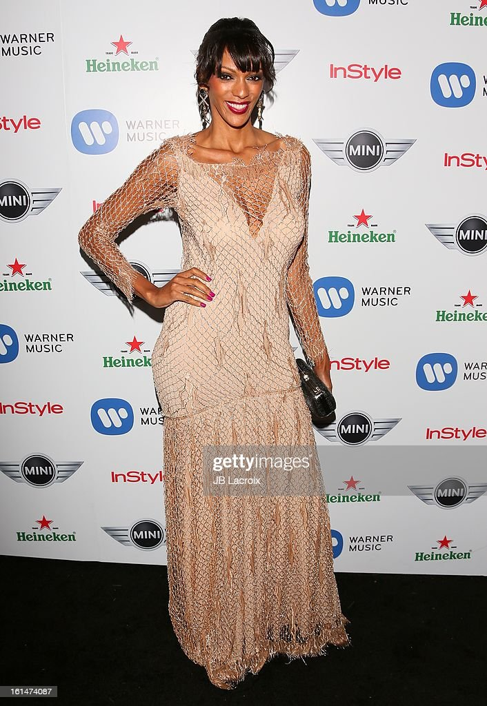 Judi Shekoni attends the Warner Music Group 2013 Grammy Celebration Presented By Mini held at Chateau Marmont on February 10, 2013 in Los Angeles, California.