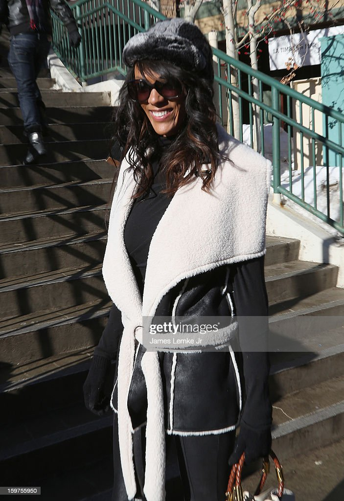 Judi Shekoni is seen walking Main street on January 19, 2013 in Park City, Utah.