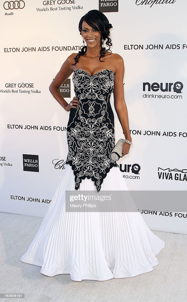 Judi Skekoni arrives at the 21st Annual Elton John AIDS Foundation Academy Awards Viewing Party at Pacific Design Center on February 24, 2013 in West Hollywood, California.