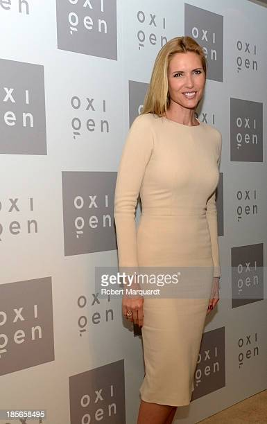 Judit Masco attends a photocall for the 20th anniversary of Oxigen cosmetics on October 23 2013 in Barcelona Spain