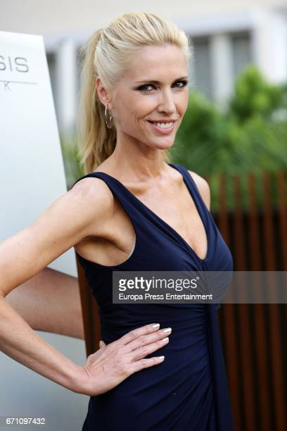 Judit Masco attends the 'Enfasis Black' swimsuit collection launch at the Wellington Hotel on April 20 2017 in Madrid Spain