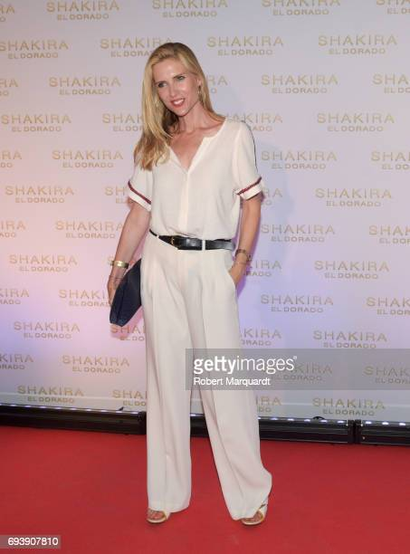 Judit Masco poses during a photocall for the new Shakira album 'El Dorado' at the Convent of Angels on June 8 2017 in Barcelona Spain