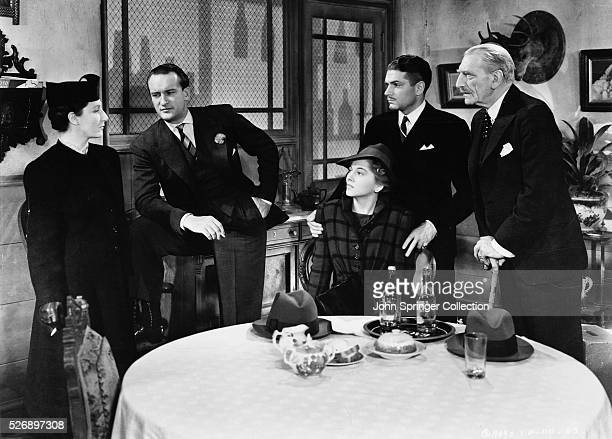 Judith Anderson as the housekeeper Mrs Danvers George Sanders as Jack Favell Joan Fontaine as the second Mrs de Winter Laurence Olivier as Maxim de...