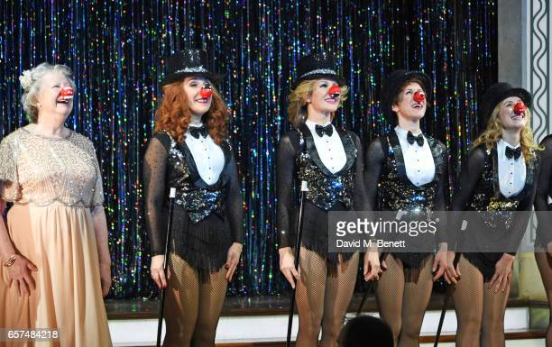 Judith Barker TracyAnn Oberman Amanda Holden AnnaJane Casey and Nicola Stephenson of the west end cast of 'Stepping Out' show support for Red Nose...