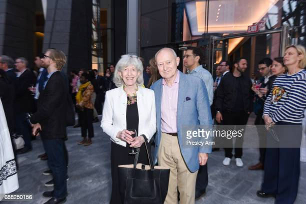 Judith Brodsky and Michael Finnley attend The Shed First Reveal VIP Cocktail Party at The Shed on May 24 2017 in New York City