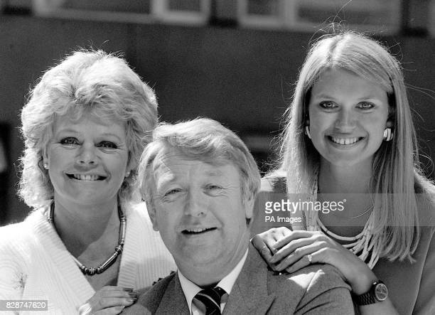 Judith Chalmers and Anneka Rice welcoming BBC travel man John Carter to the Thames TV Wish You Were Here team