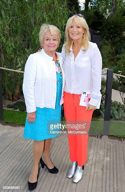Judith Chalmers and Gabby Roslin attends Chelsea Flower Show press day at Royal Hospital Chelsea on May 23 2016 in London England The show which has...