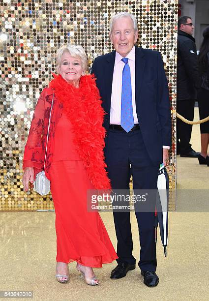 Judith Chalmers and Neil DurdenSmith attend the 'Absolutely Fabulous The Movie' World Premiere at the Odeon Leicester Square on June 29 2016 in...