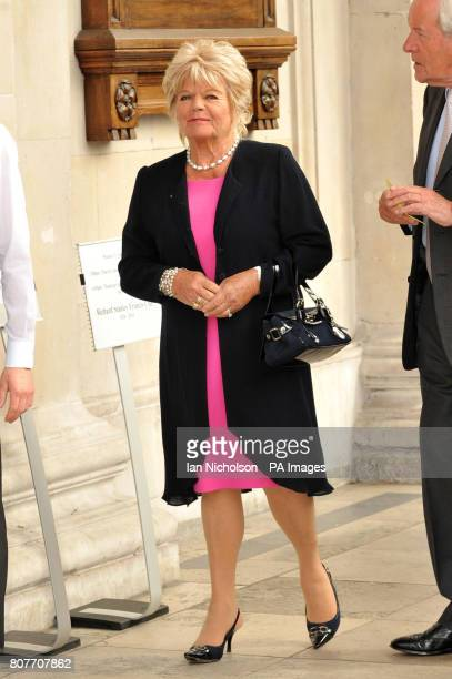 Judith Chalmers arrives for a memorial service for author and jockey Dick Francis at St MartinintheFields church London Francis the author of 42...