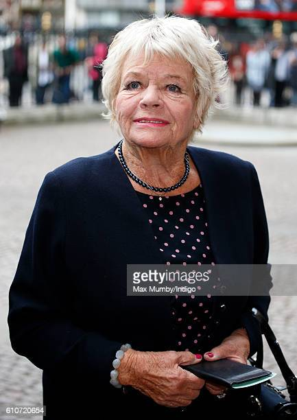 Judith Chalmers attends a memorial service for the late Sir Terry Wogan at Westminster Abbey on September 27 2016 in London England Radio and...