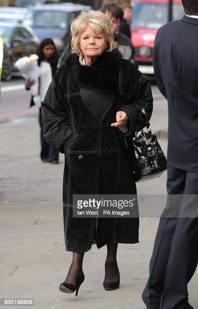 Judith Chalmers attends the funeral of Wendy Richard at St Marylebone Parish Church Marylebone Road in central London
