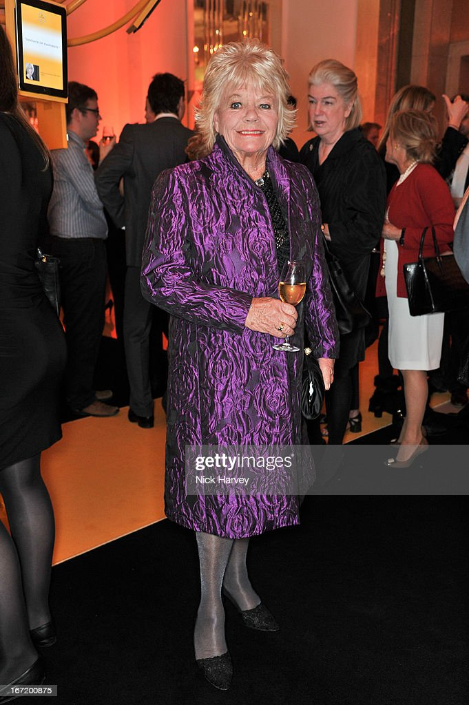 Judith Chalmers attends the Veuve Clicquot Business Woman of the Year award at Claridges Hotel on April 22, 2013 in London, England.