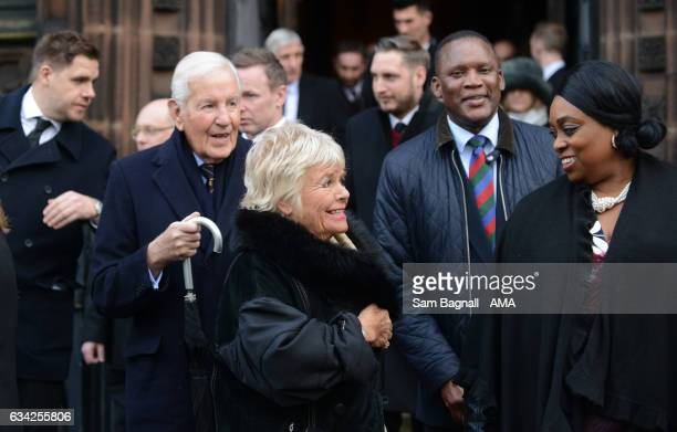 Judith Chalmers during the Funeral of Baroness Heyhoe Flint on February 8 2017 in Wolverhampton England