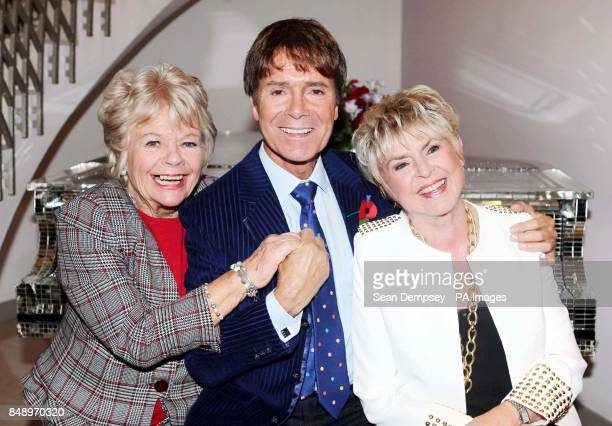 Judith Chalmers Sir Cliff Richard and Gloria Hunniford attend The Lady Taverners' tribute lunch for Sir Cliff Richard at the Dorchester hotel in...