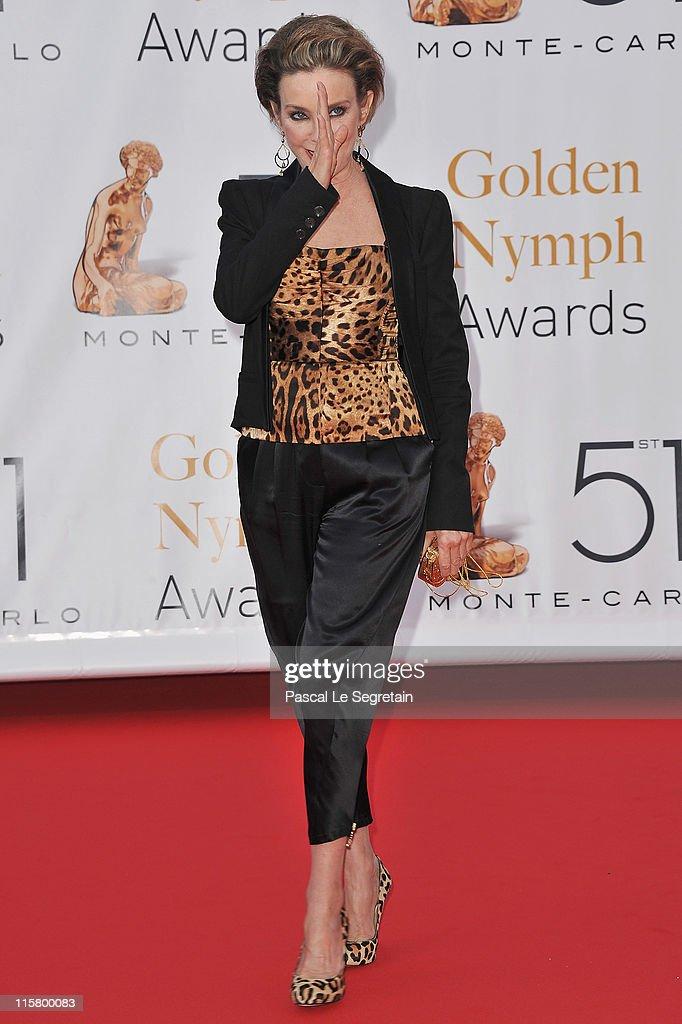 Judith Chapman arrives to attend the closing ceremony of the 51st Monte Carlo TV Festival at the Grimaldi forum on June 10, 2011 in Monaco, Monaco.