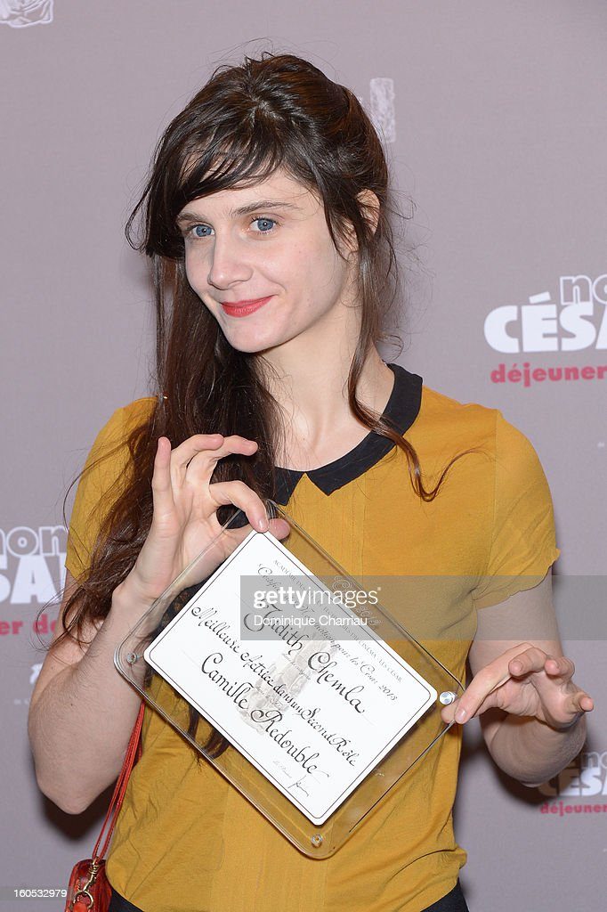 Judith Chemla attends the Cesar 2013 Nominee Lunch at Le Fouquet's on February 2, 2013 in Paris, France.