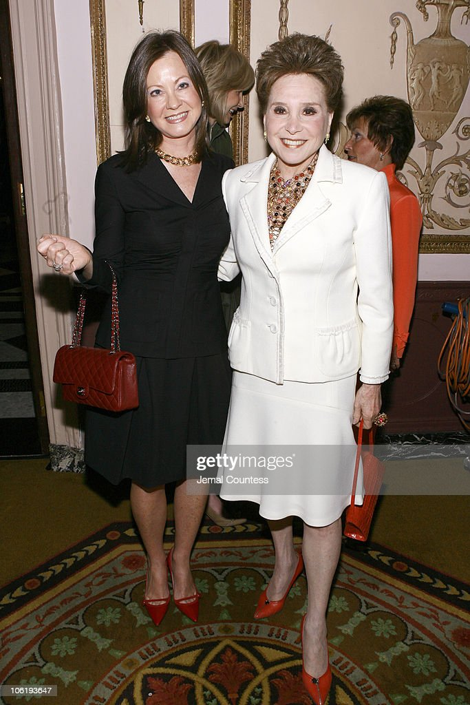 Judith Giuliani and Cindy Adams during The 2007 Matrix Awards at Waldorf Astoria in New York City New York United States