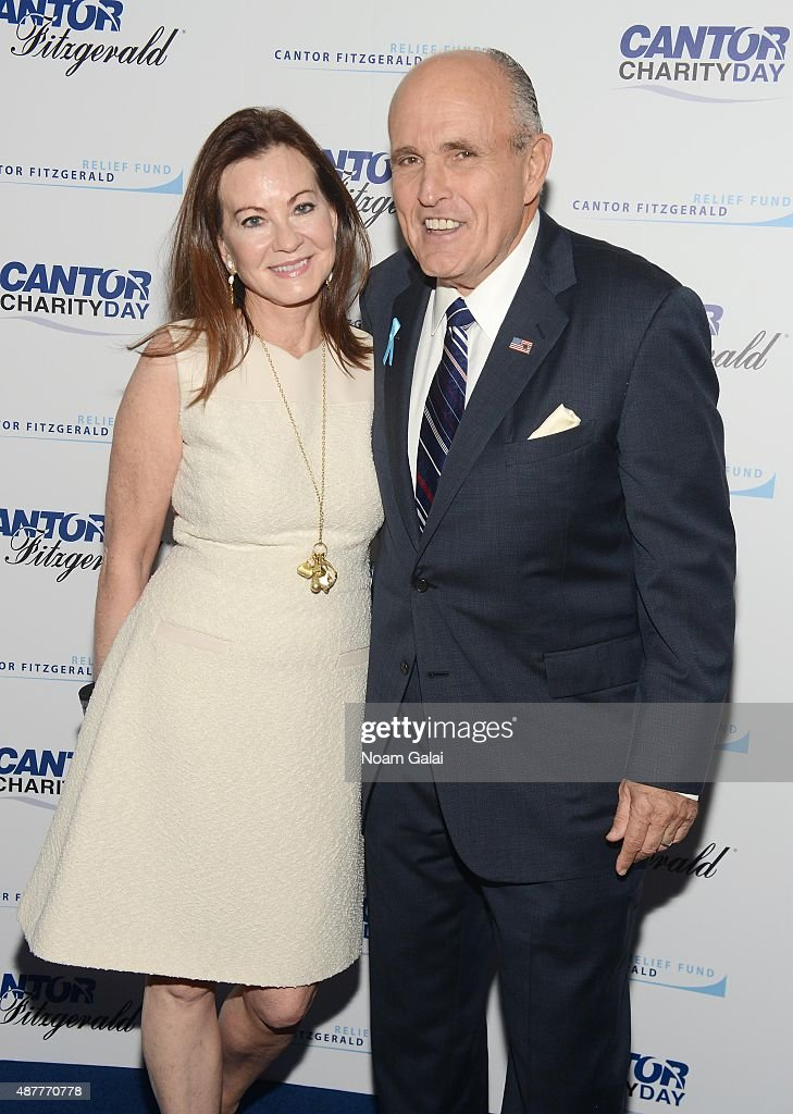Judith Giuliani and former Mayor of New York City Rudy Giuliani attend the annual Charity Day hosted by Cantor Fitzgerald and BGC at Cantor...