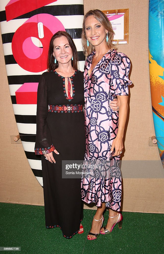Judith Giuliani and Kinga Lampert attend the 2016 Paddle Party for Pink at Fairview Farm on Mecox Bay on August 6 2016 in Bridgehampton New York