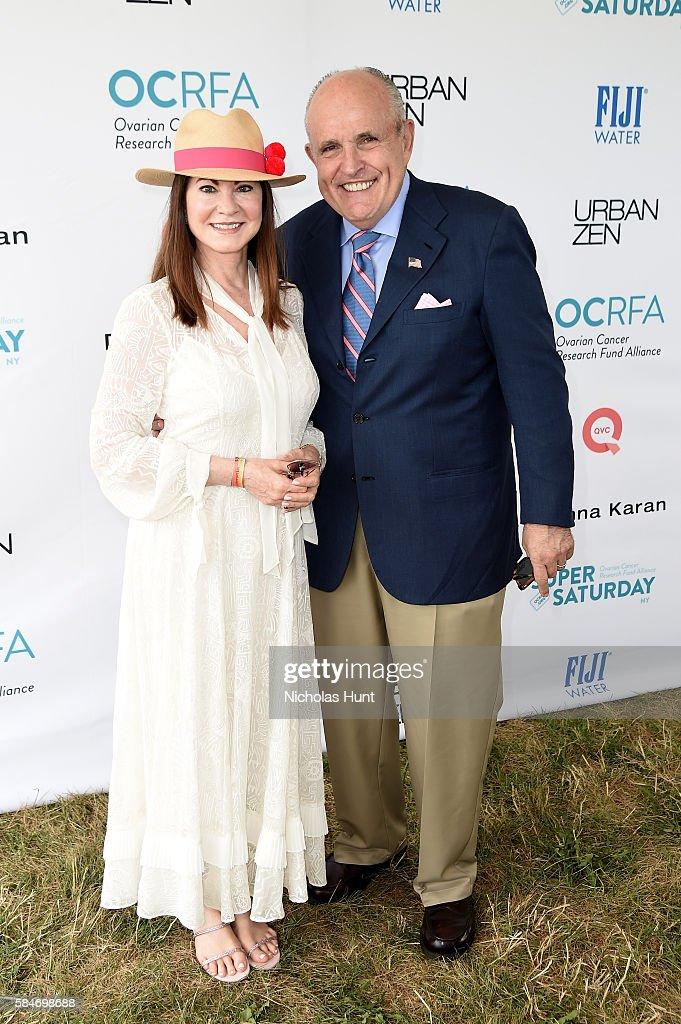 Judith Giuliani and Rudy Giuliani attend OCRFA's 19th Annual Super Saturday NY Hosted by Kelly Ripa Donna Karan and Gabby Karan de Felice on July 30...