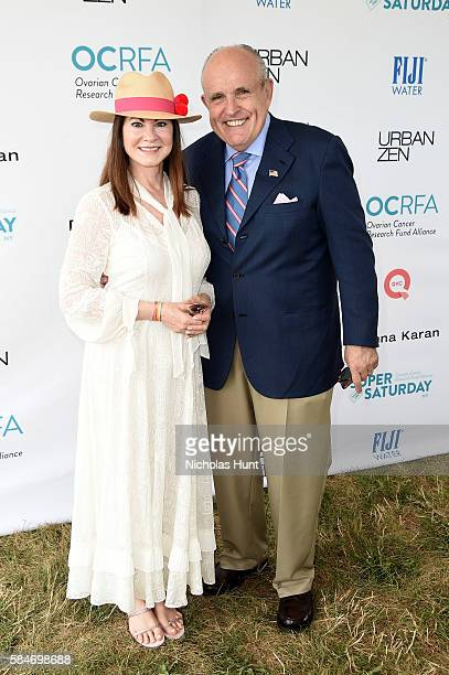 Judith Giuliani and Rudy Giuliani attend OCRFA's 19th Annual Super Saturday NY Hosted by Kelly Ripa Donna Karan and Gabby Karan de Felice on July 30...