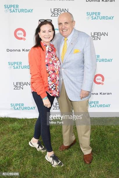 Judith Giuliani and Rudy Giuliani attend OCRFA's 20th Annual Super Saturday to Benefit Ovarian Cancer on July 29 2017 in Watermill New York