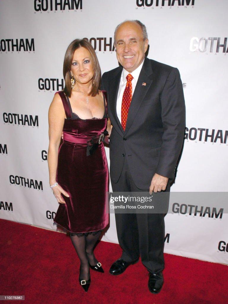 Judith Giuliani wearing Daniel K jewelry and Rudy Giuliani