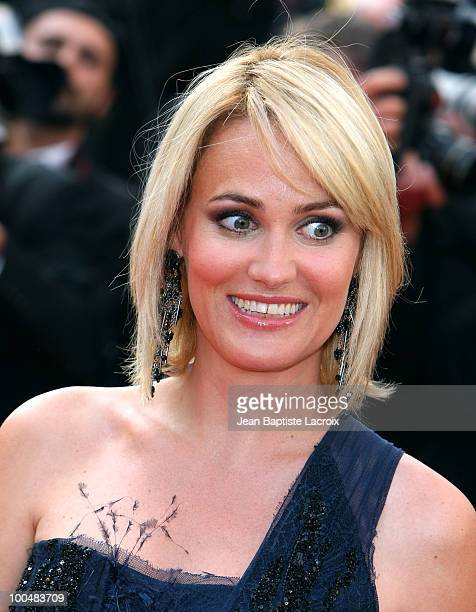 Judith Godreche attends the Palme d'Or Closing Ceremony held at the Palais des Festivals during the 63rd Annual International Cannes Film Festival on...