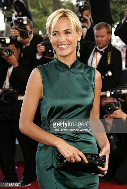 Judith Godreche during 2003 Cannes Film Festival 'Tulse Luper Suitcases' Premiere at Palais des Festivals in Cannes France