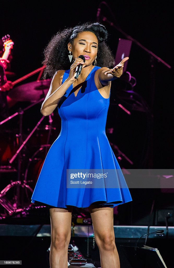 Judith Hill performs at The Palace of Auburn Hills on October 23, 2013 in Auburn Hills, Michigan.